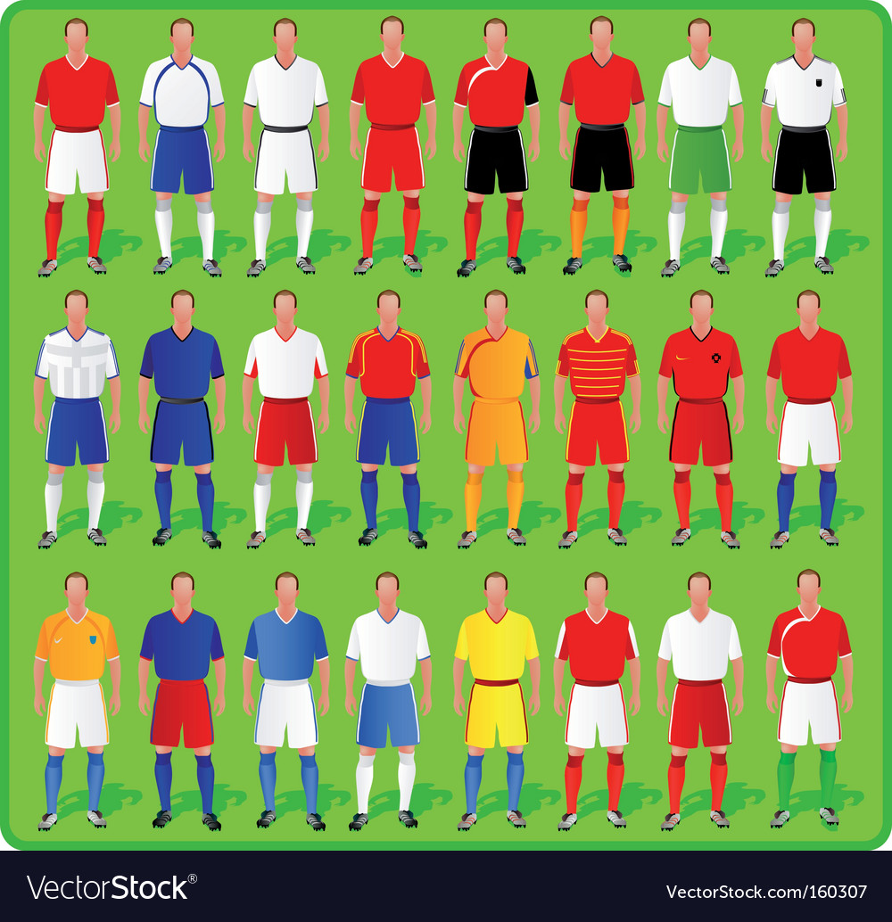 National teams of european football vector | Price: 3 Credit (USD $3)