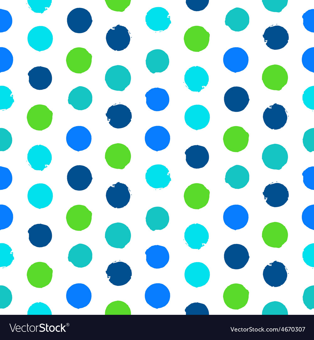 Polka dot pattern in green vector | Price: 1 Credit (USD $1)