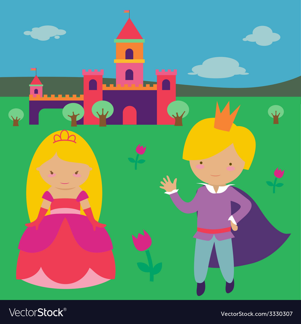 Princess with prince vector | Price: 1 Credit (USD $1)