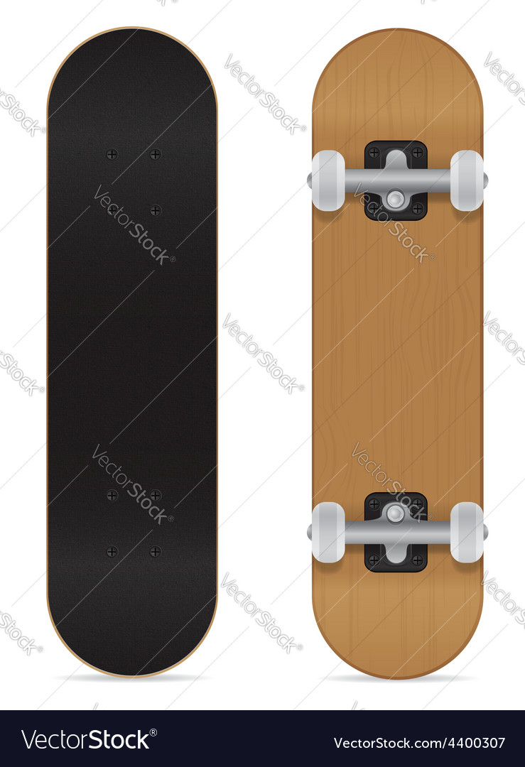 Skateboard 01 vector | Price: 1 Credit (USD $1)