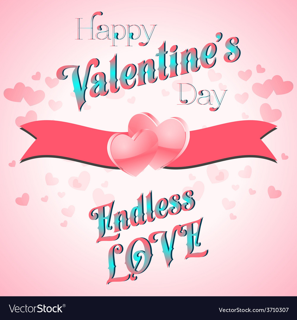 Valentines day lettering card vector | Price: 1 Credit (USD $1)