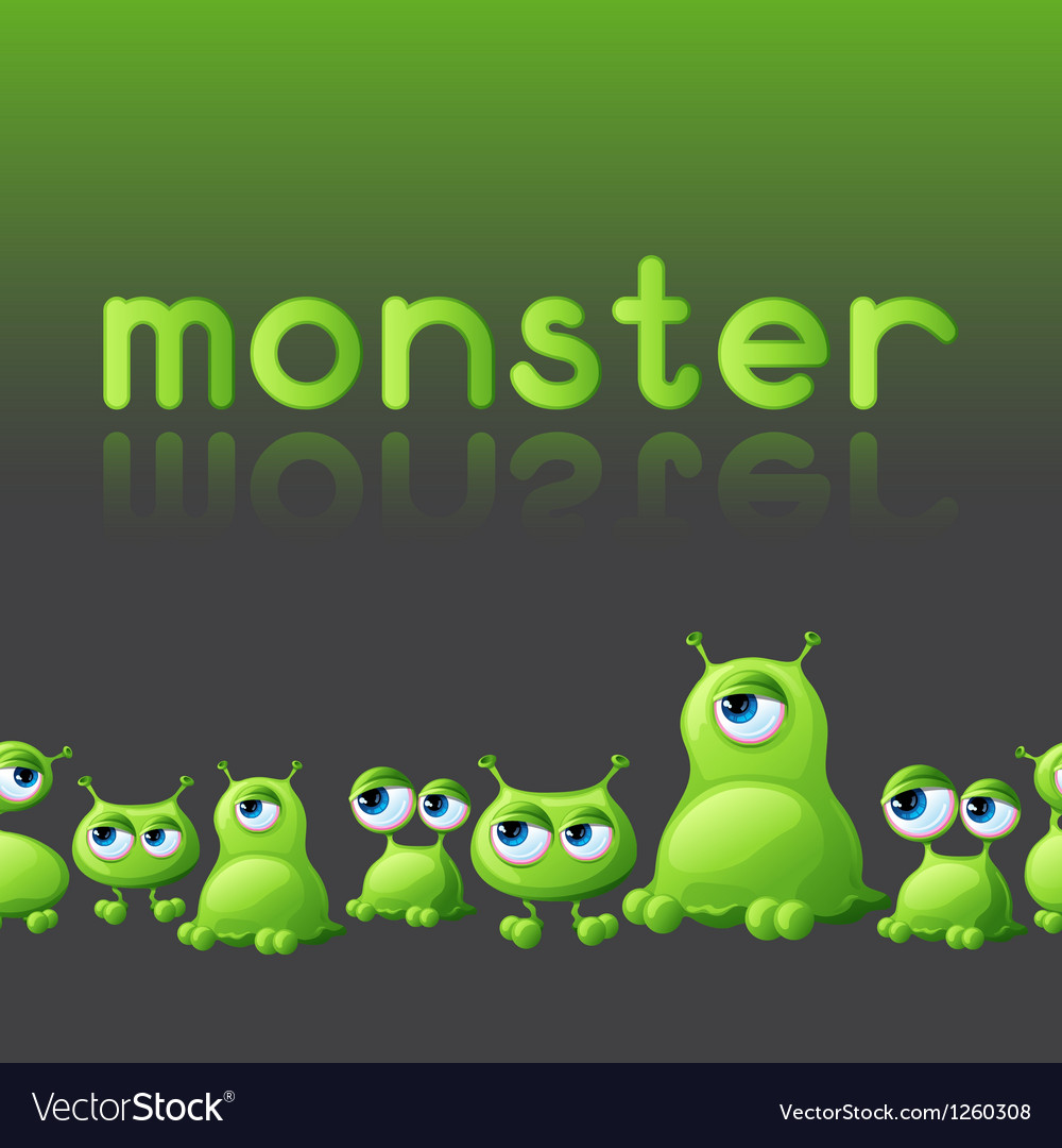 Abstract background with cute monsters vector | Price: 1 Credit (USD $1)
