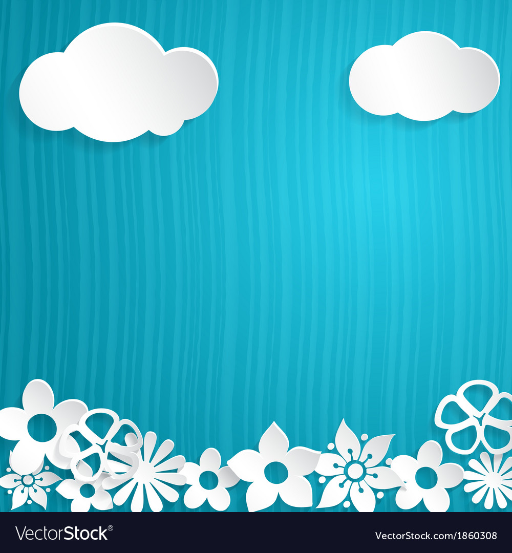 Background with paper flowers vector | Price: 1 Credit (USD $1)