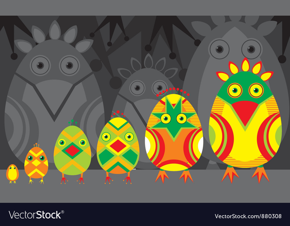 Bird hatch vector | Price: 1 Credit (USD $1)