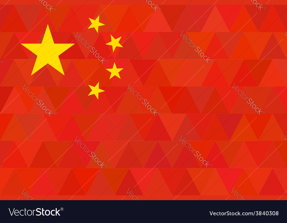 China flag original proportion and colors vector | Price: 1 Credit (USD $1)