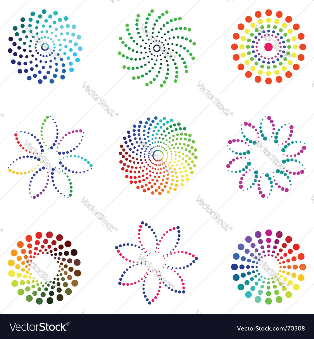 Dot design elements vector | Price: 1 Credit (USD $1)