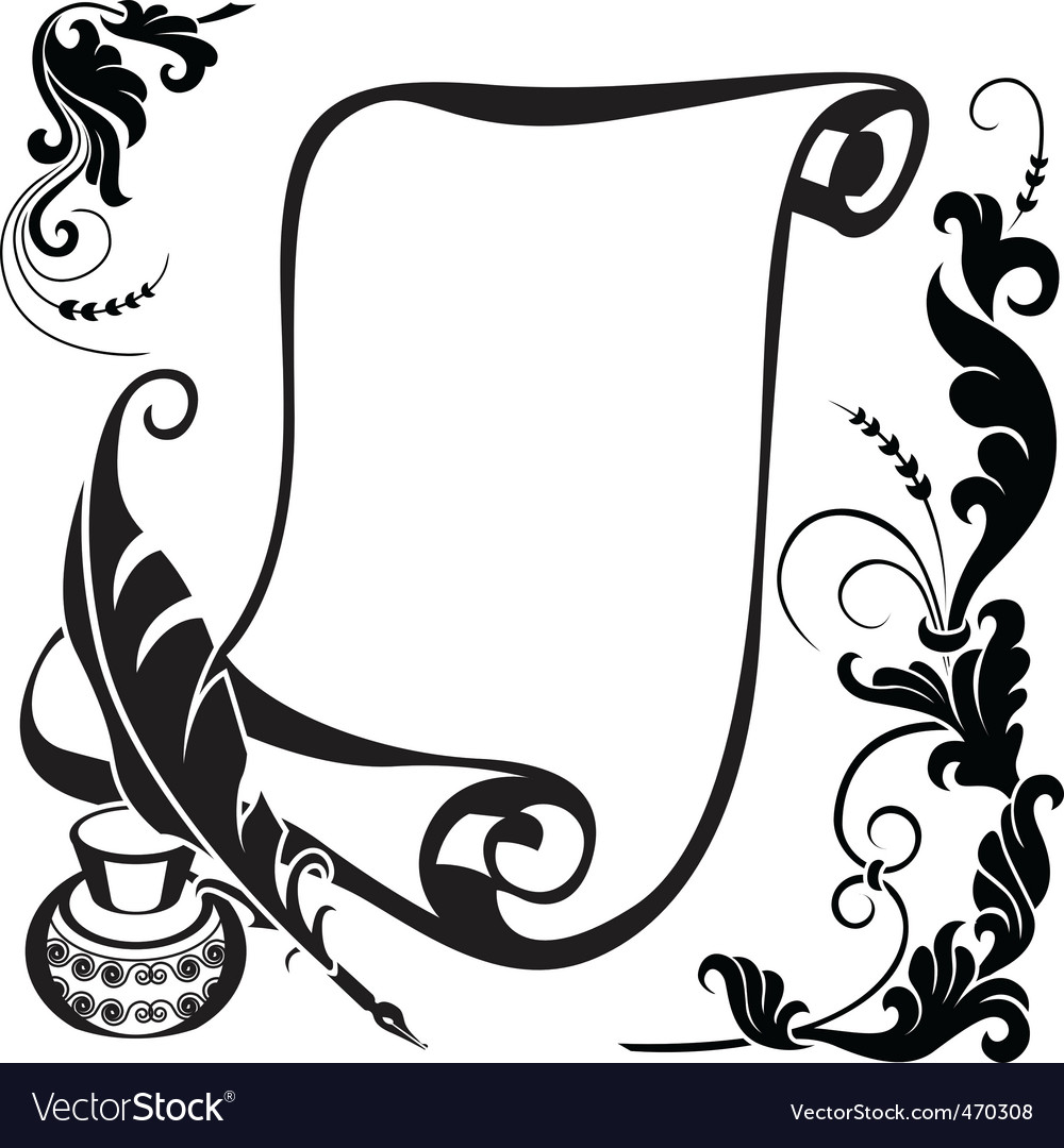 Floral and scroll vector | Price: 1 Credit (USD $1)