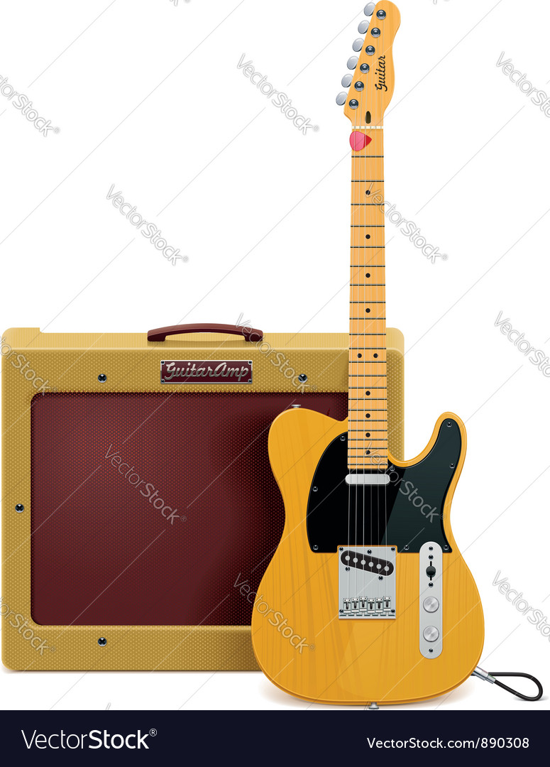 Guitar and amp icon vector | Price: 3 Credit (USD $3)
