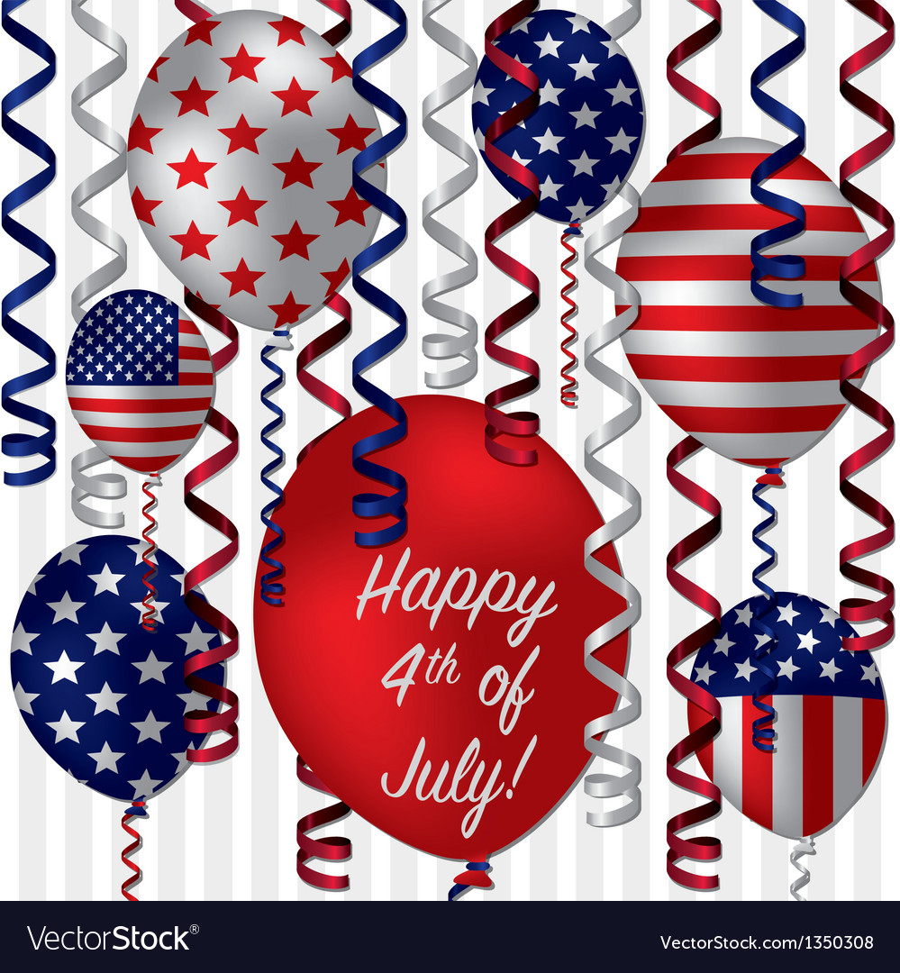 Happy 4th of july vector | Price: 1 Credit (USD $1)