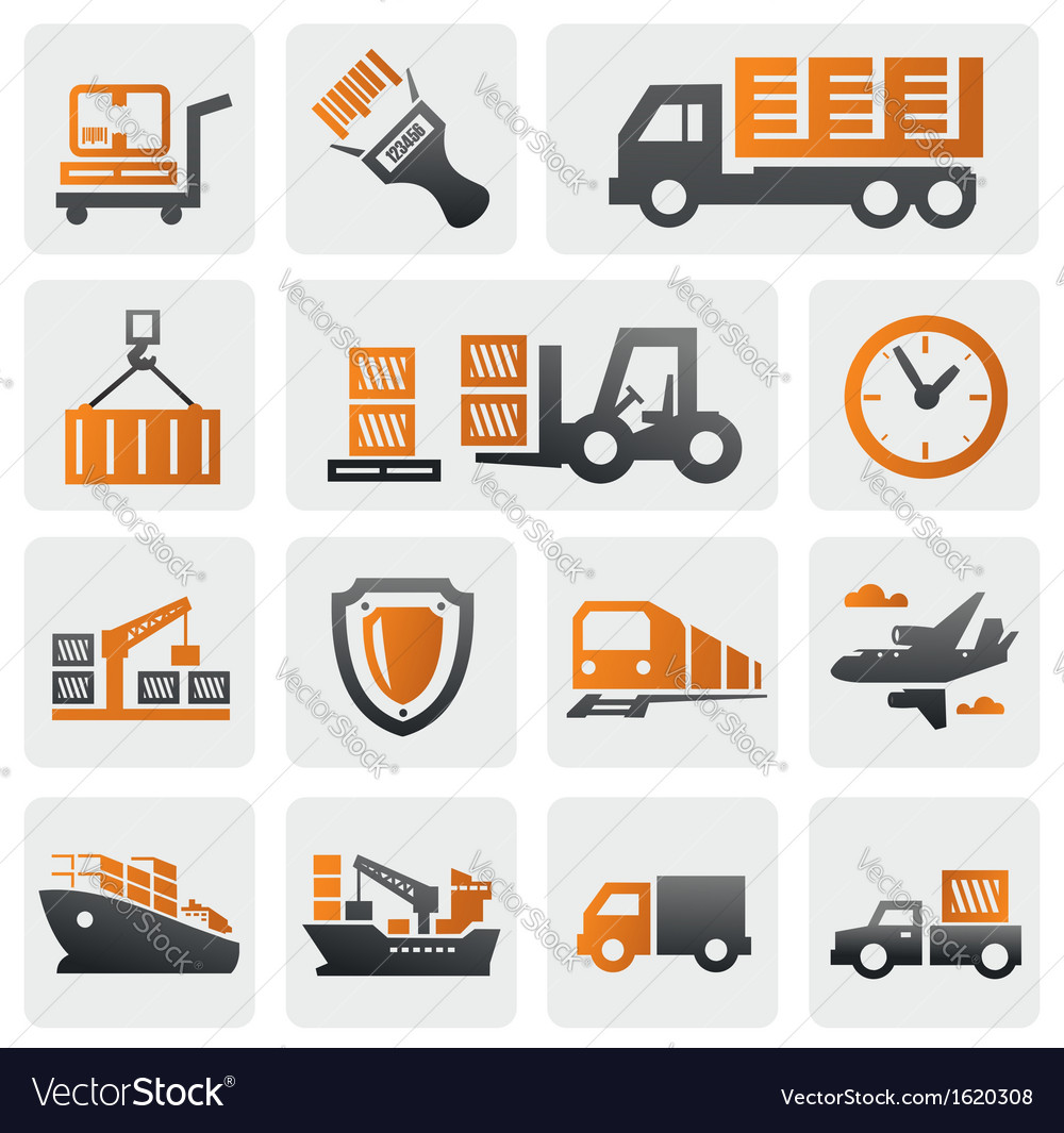 Logistic and shipping icon set vector | Price: 1 Credit (USD $1)