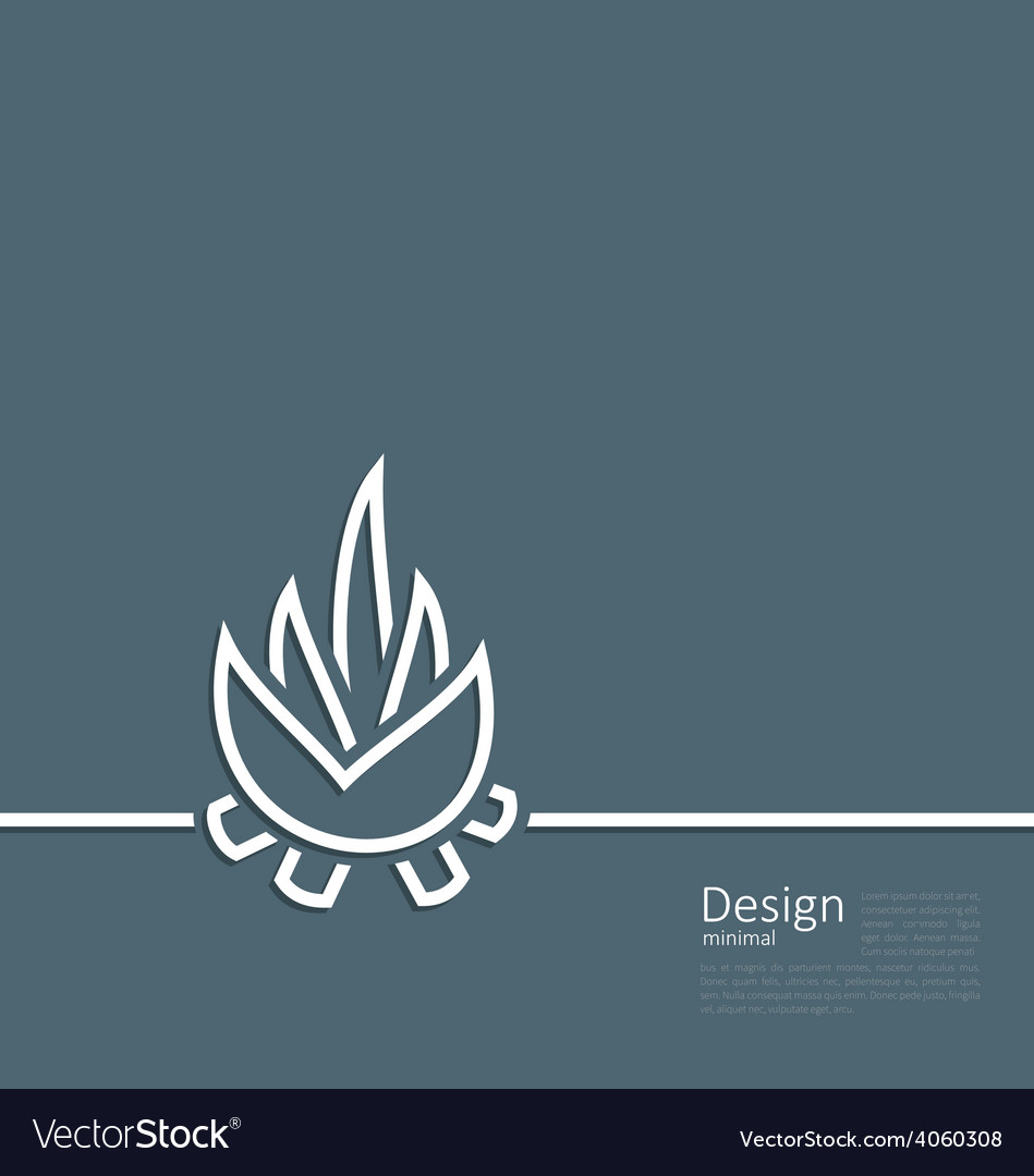 Logo of bonfire symbol of camping simple flat sty vector | Price: 1 Credit (USD $1)