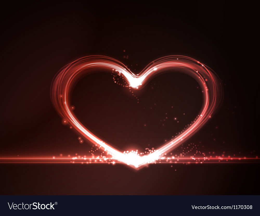 Red glowing heart vector | Price: 1 Credit (USD $1)