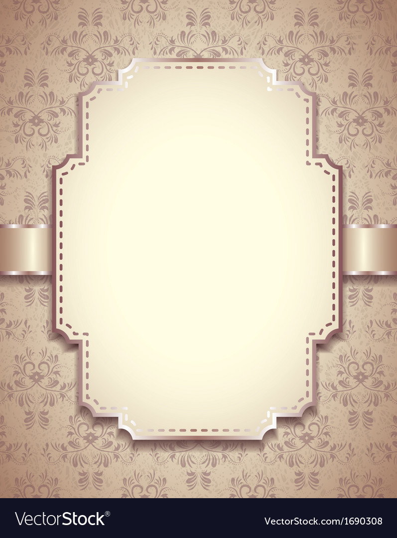Retro frame vertical background vector | Price: 1 Credit (USD $1)
