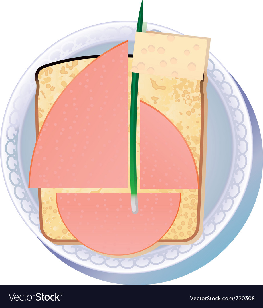 Sandwich for yachtsman vector | Price: 1 Credit (USD $1)