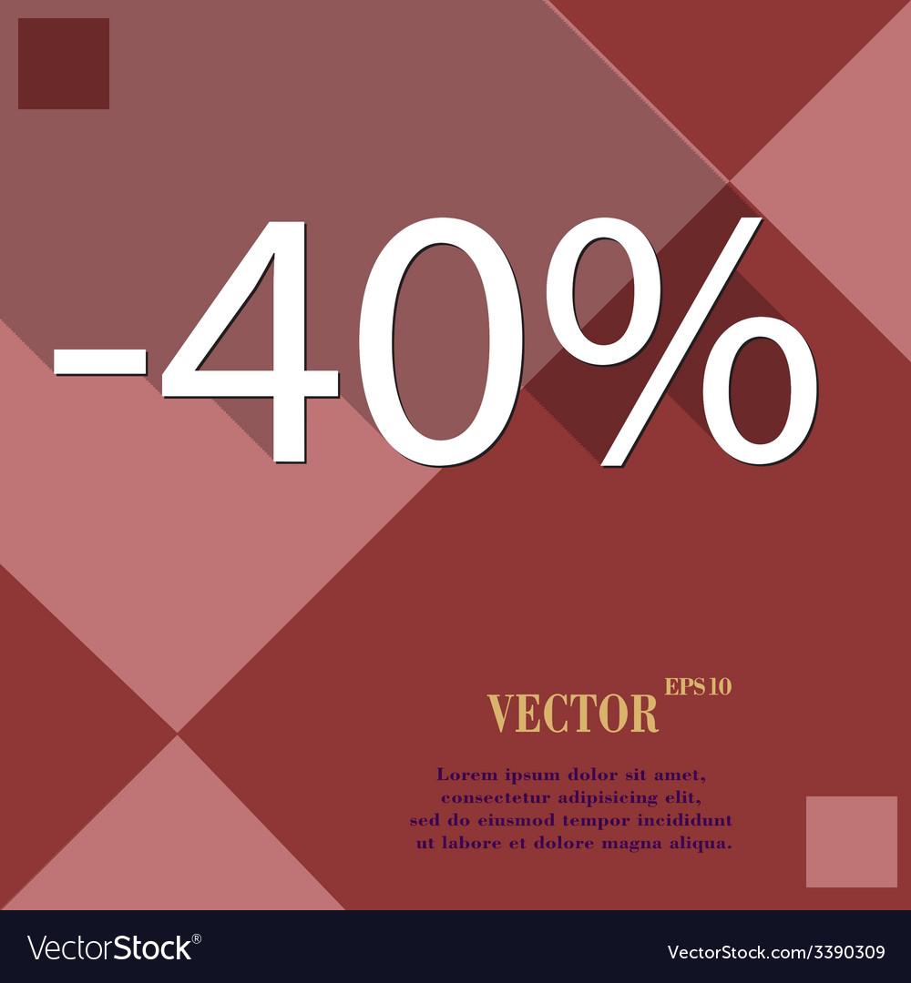 40 percent discount icon symbol flat modern web vector | Price: 1 Credit (USD $1)