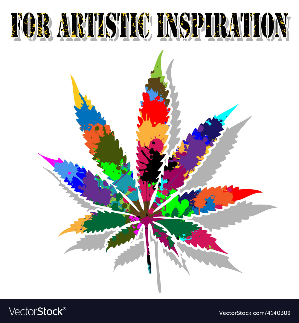 Colorful marijuana vector | Price: 1 Credit (USD $1)