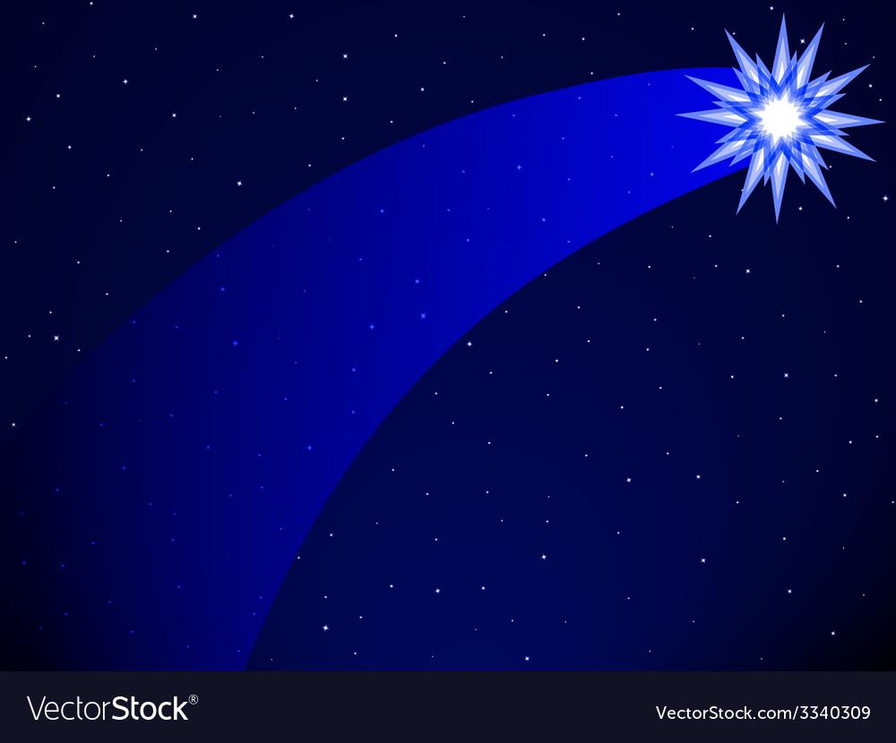 Comet on starry sky vector | Price: 1 Credit (USD $1)