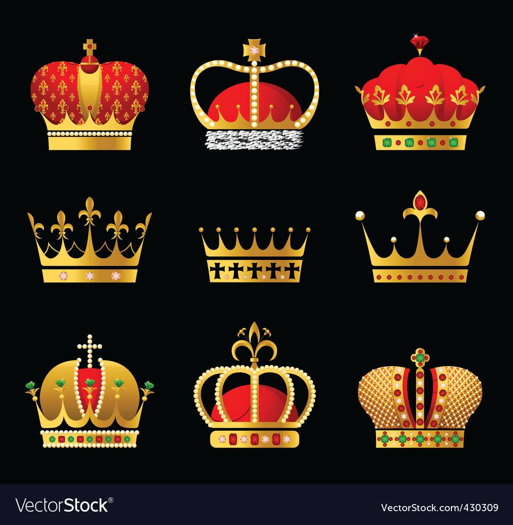 Crowns set vector | Price: 1 Credit (USD $1)
