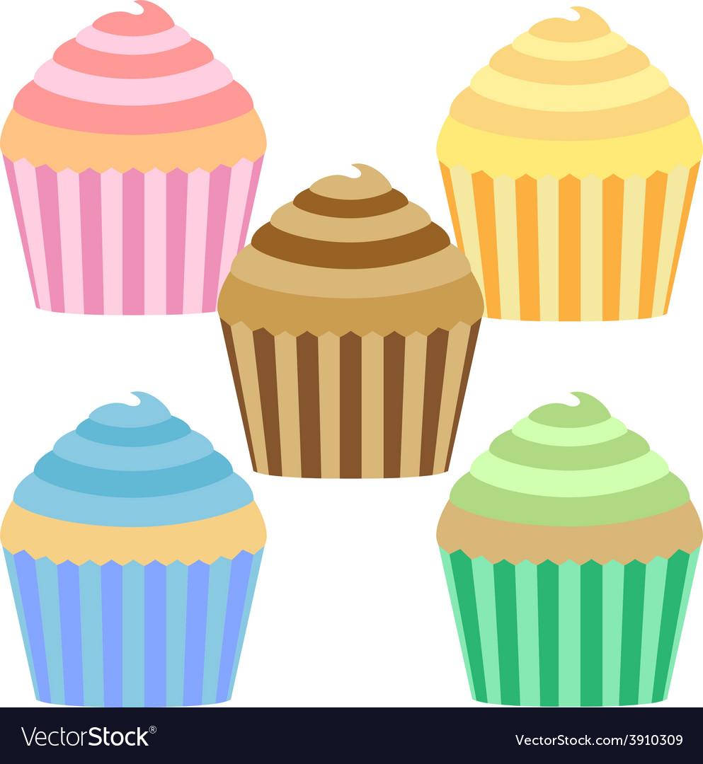 Cupcake setsweet vector | Price: 1 Credit (USD $1)