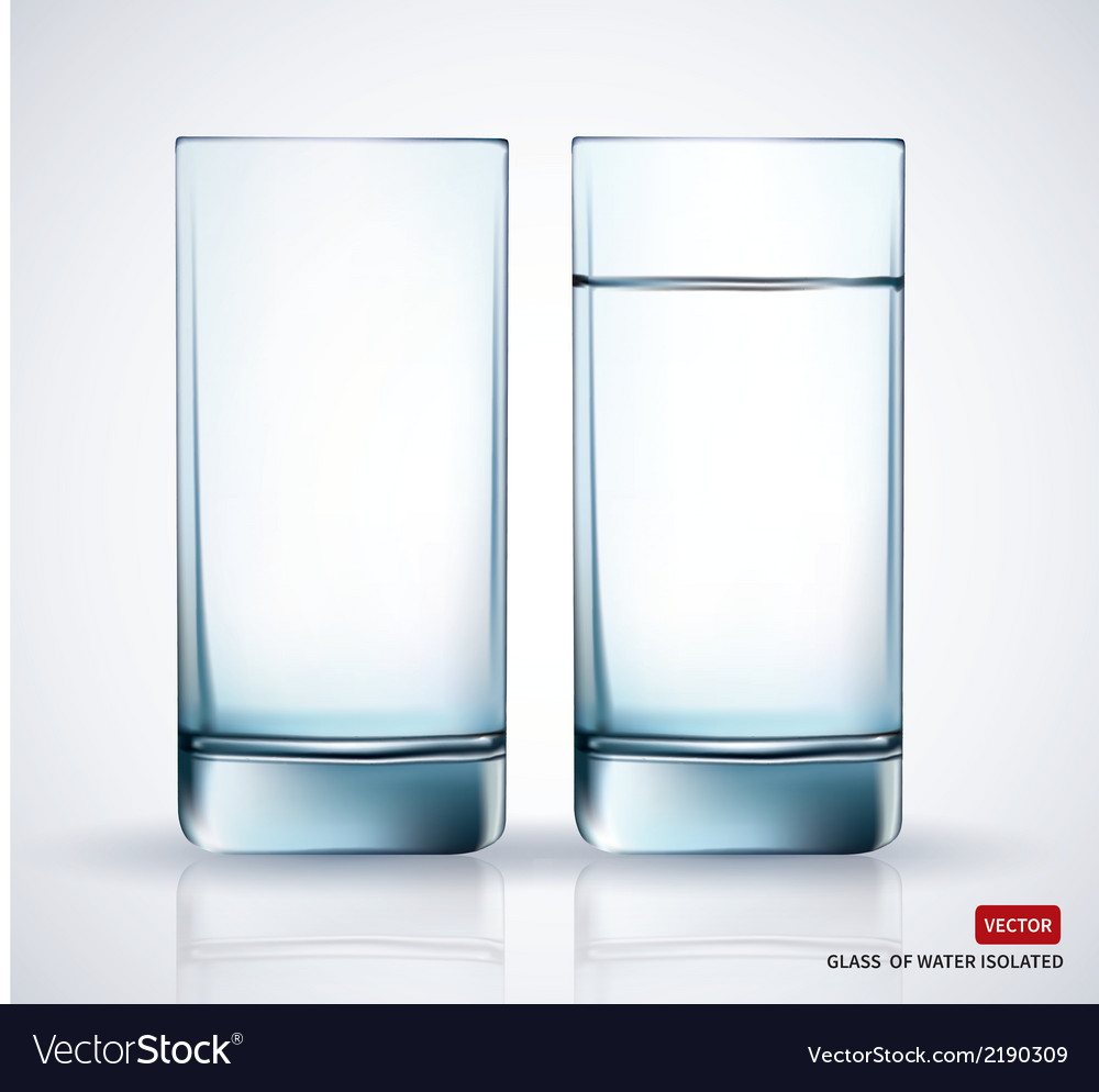 Glass with water on white background vector | Price: 1 Credit (USD $1)