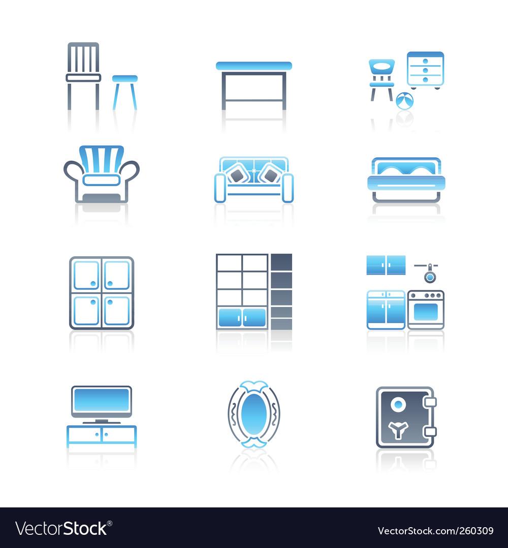 Home furniture  marine series vector | Price: 1 Credit (USD $1)