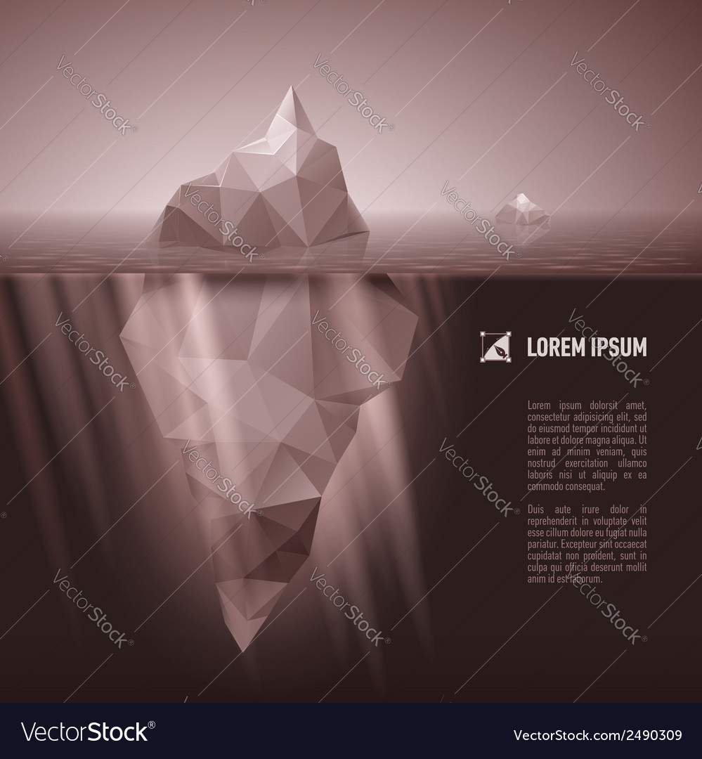 Iceberg under water vector | Price: 1 Credit (USD $1)