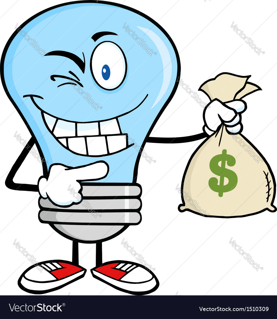 Light bulb with money bag vector | Price: 1 Credit (USD $1)