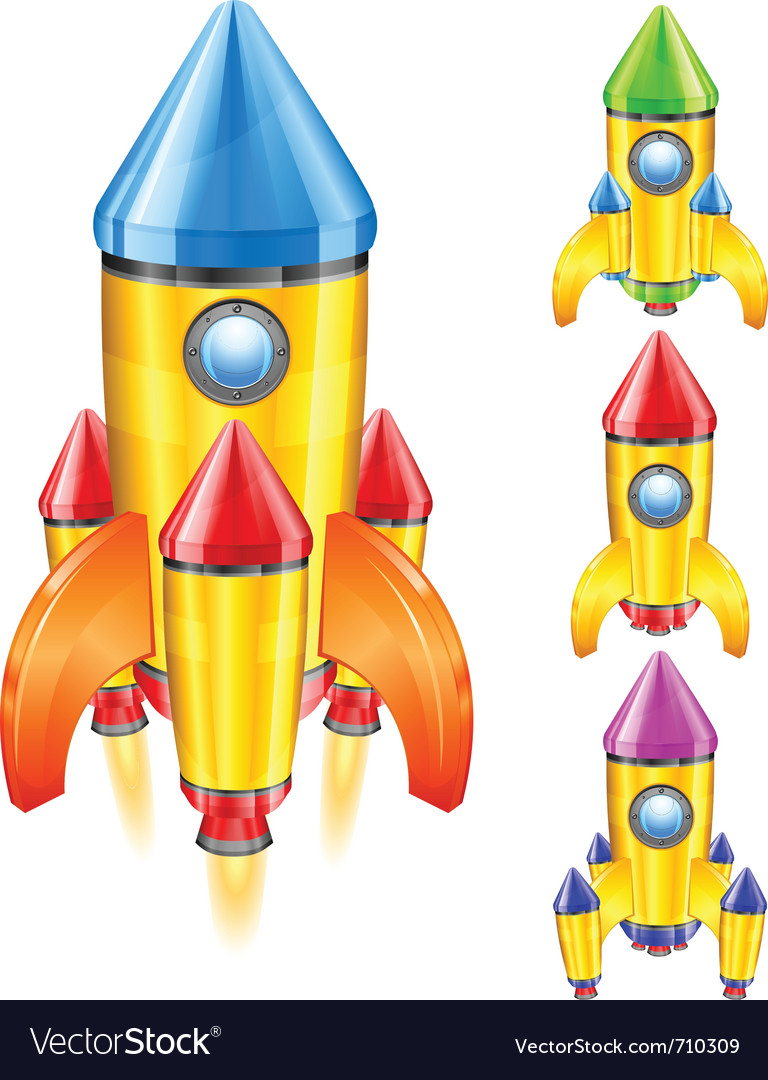 Retro rocket ship vector | Price: 3 Credit (USD $3)