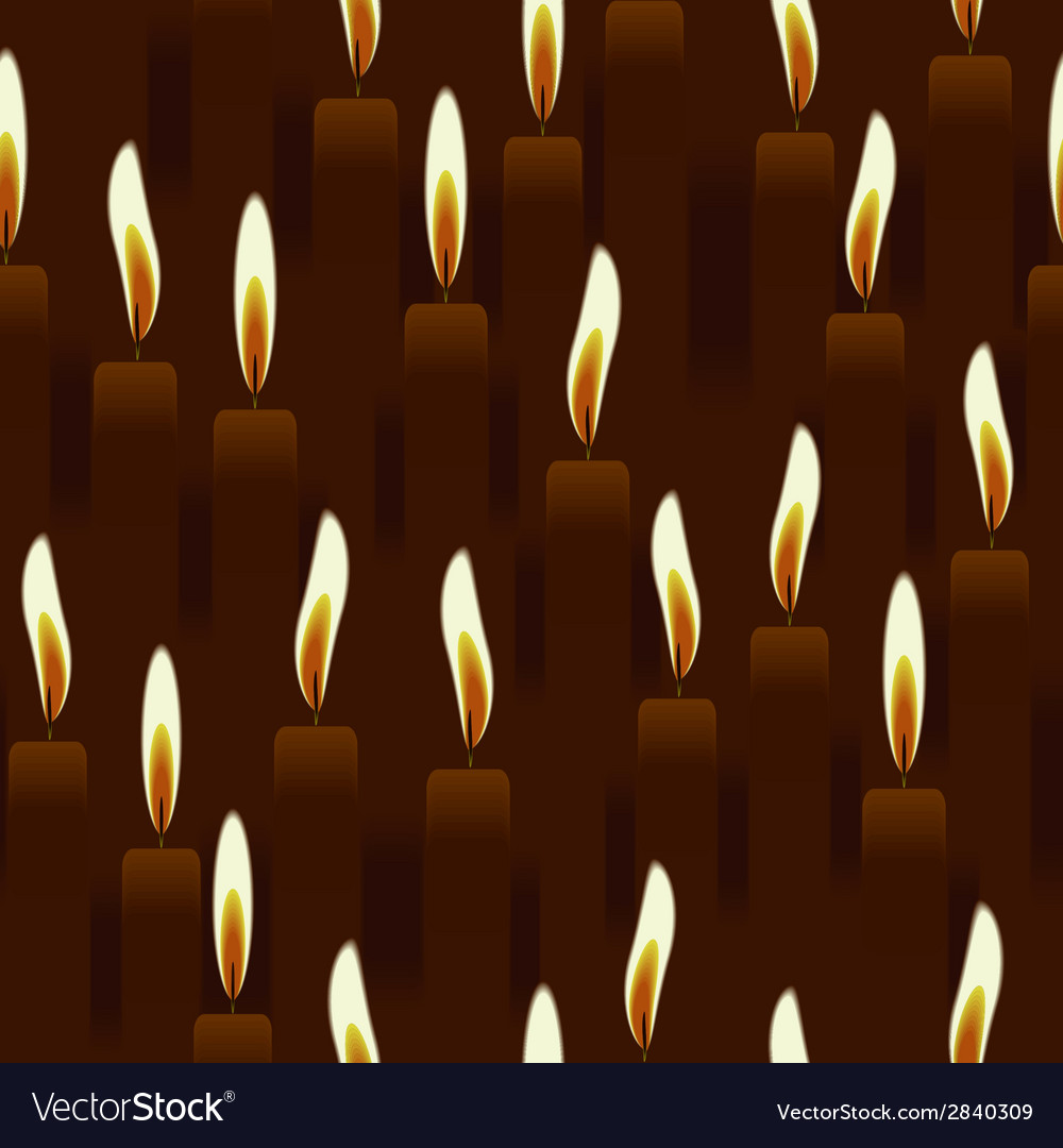Seamless burning candle church background vector | Price: 1 Credit (USD $1)