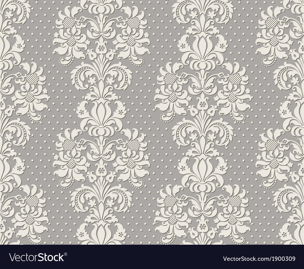 Seamless vintage lace background vector | Price: 1 Credit (USD $1)