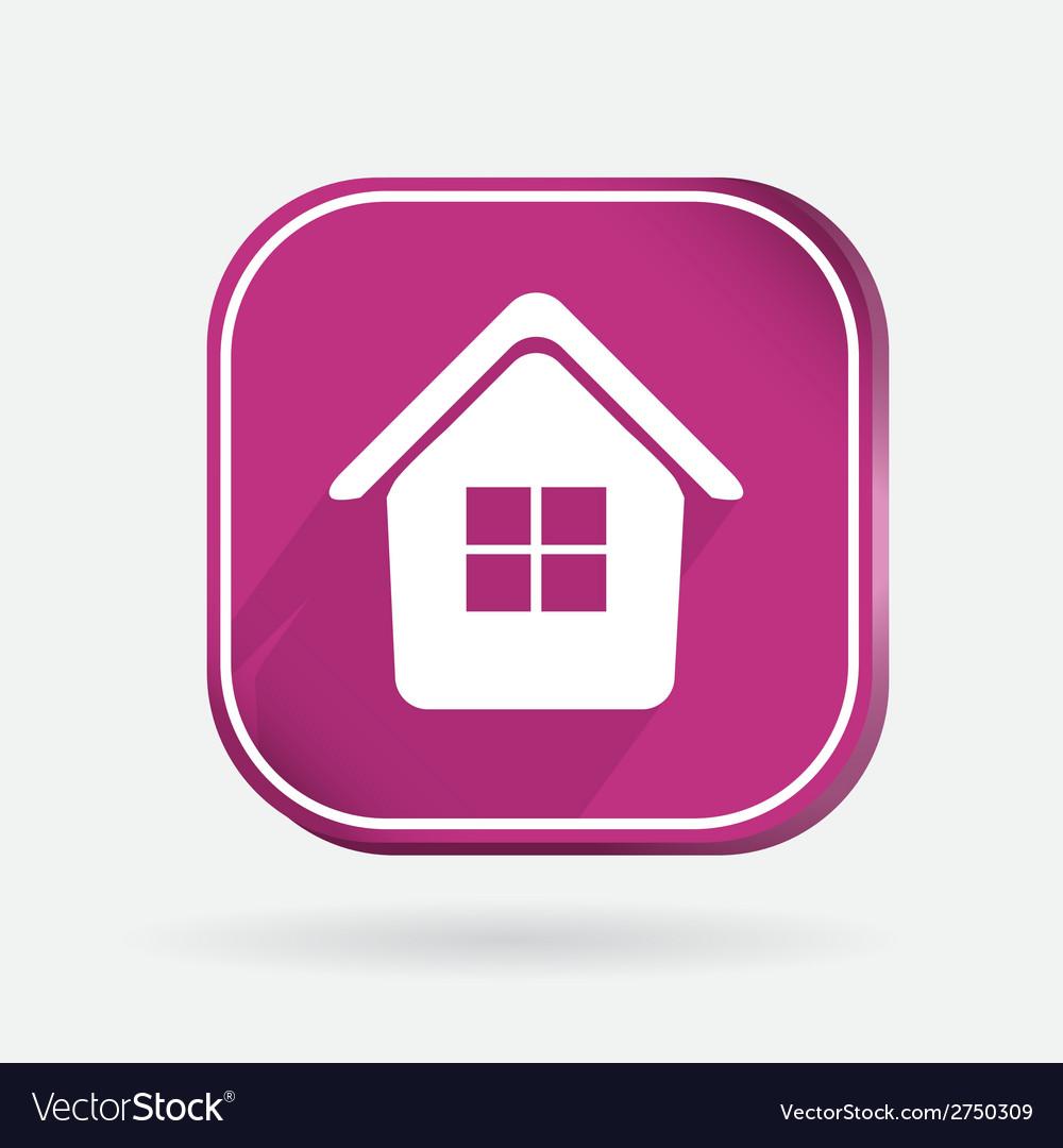 Square icon home vector | Price: 1 Credit (USD $1)