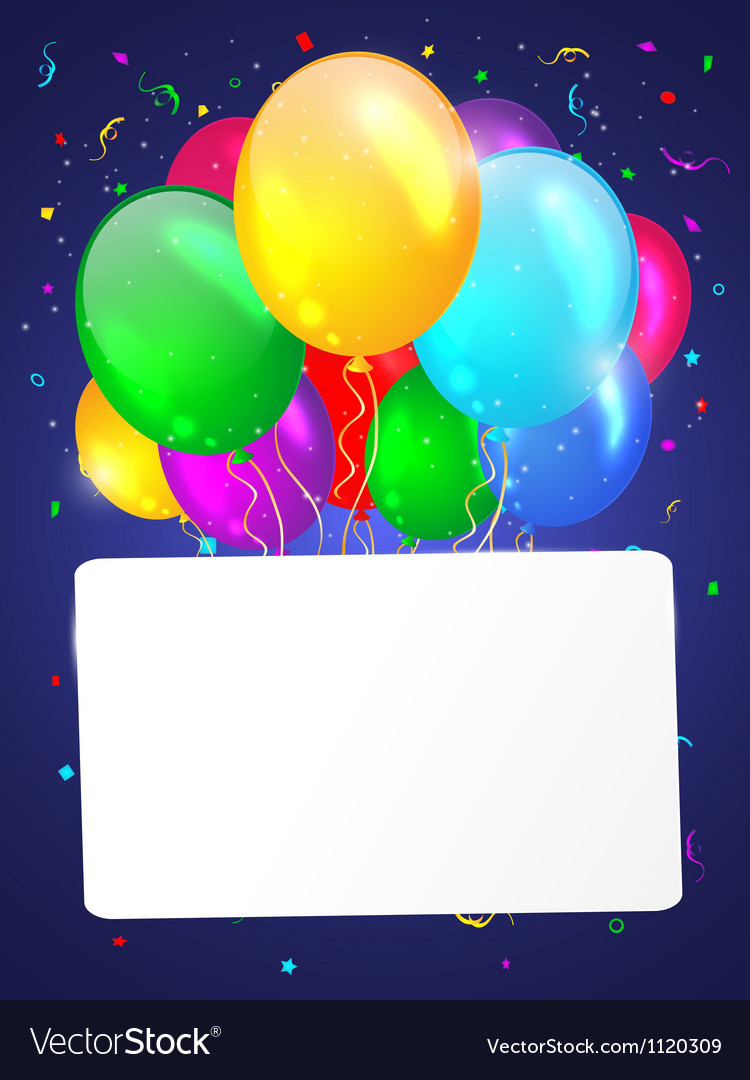 White background with multicolored balloons vector | Price: 1 Credit (USD $1)