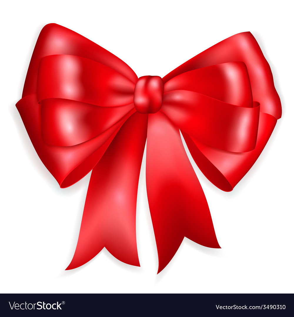 Big bow made of red ribbon vector | Price: 1 Credit (USD $1)