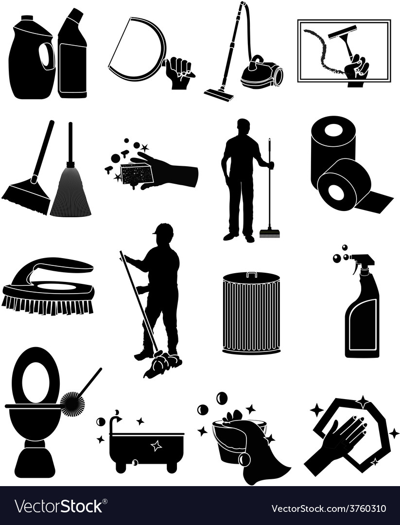 Cleaning icons set vector | Price: 1 Credit (USD $1)