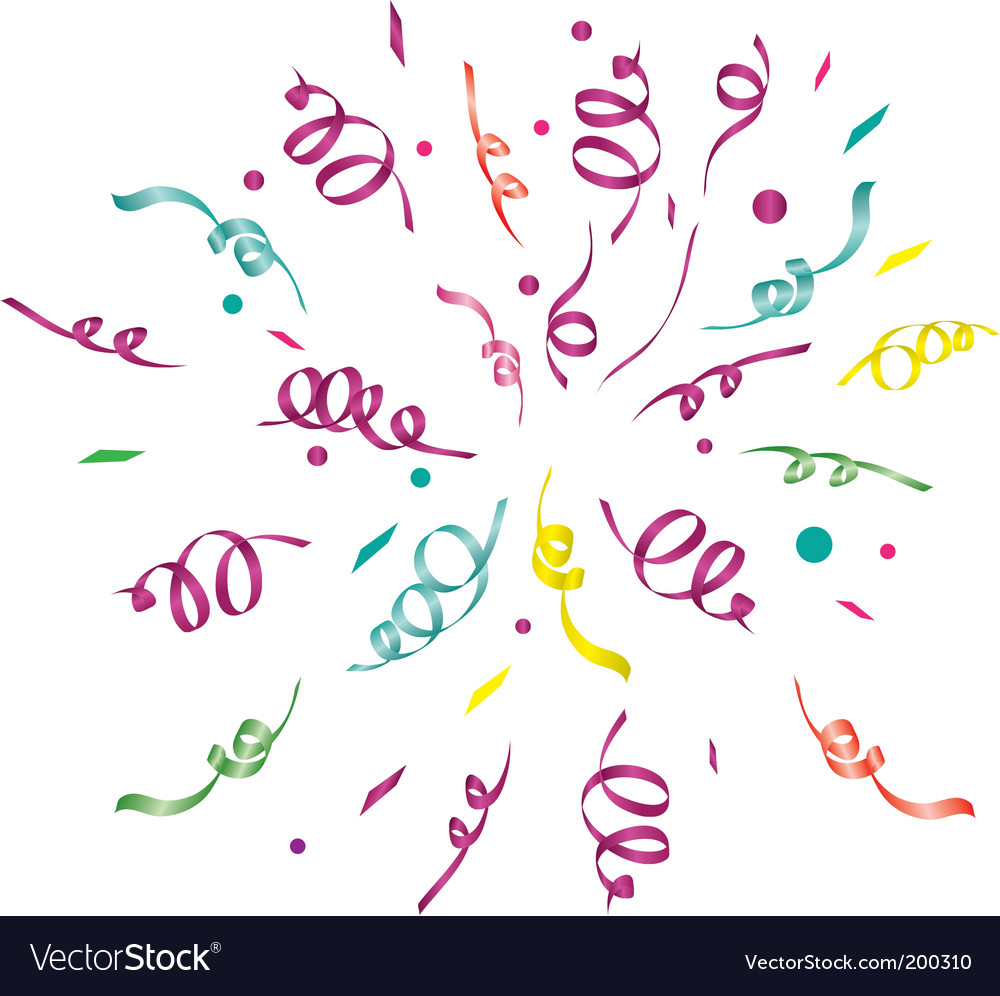 Confetti light background vector | Price: 1 Credit (USD $1)