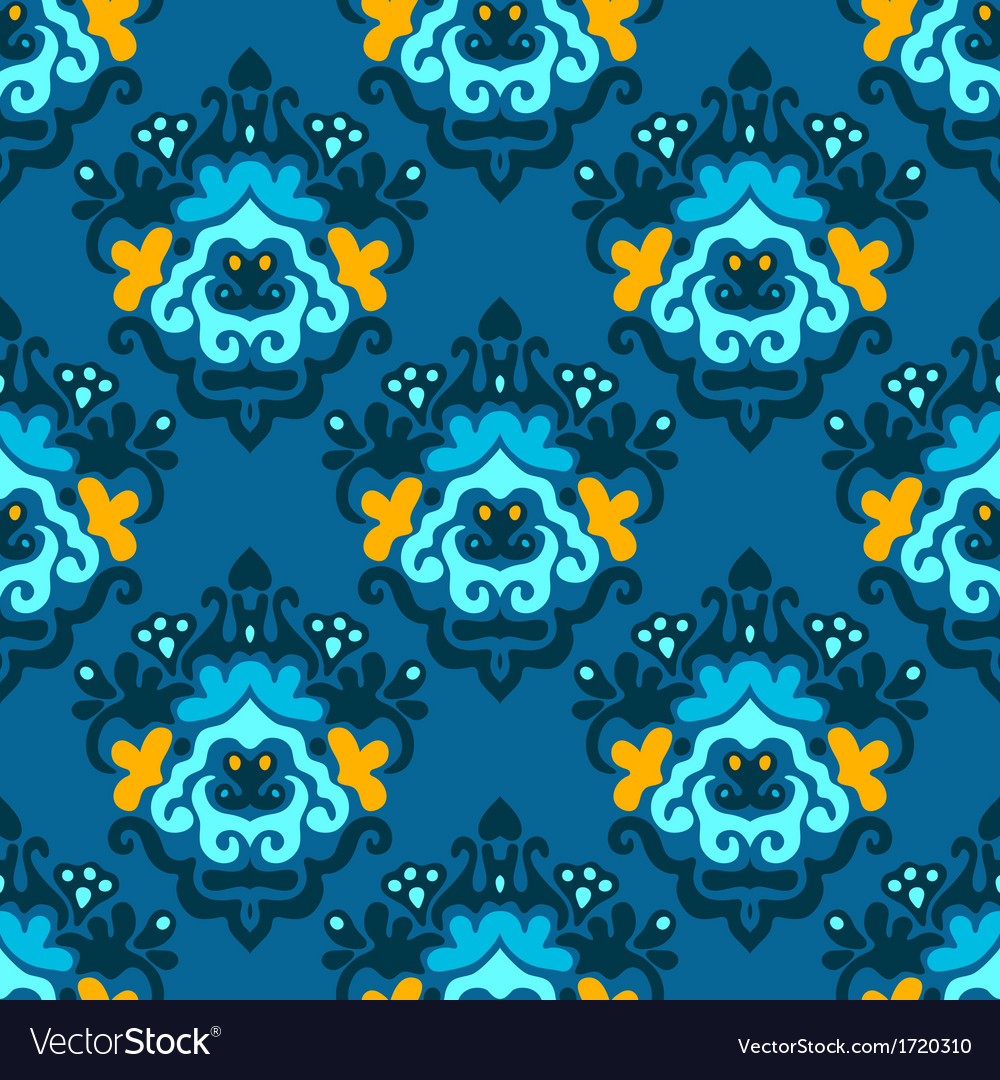 Damask doodle abstract seamless background vector | Price: 1 Credit (USD $1)