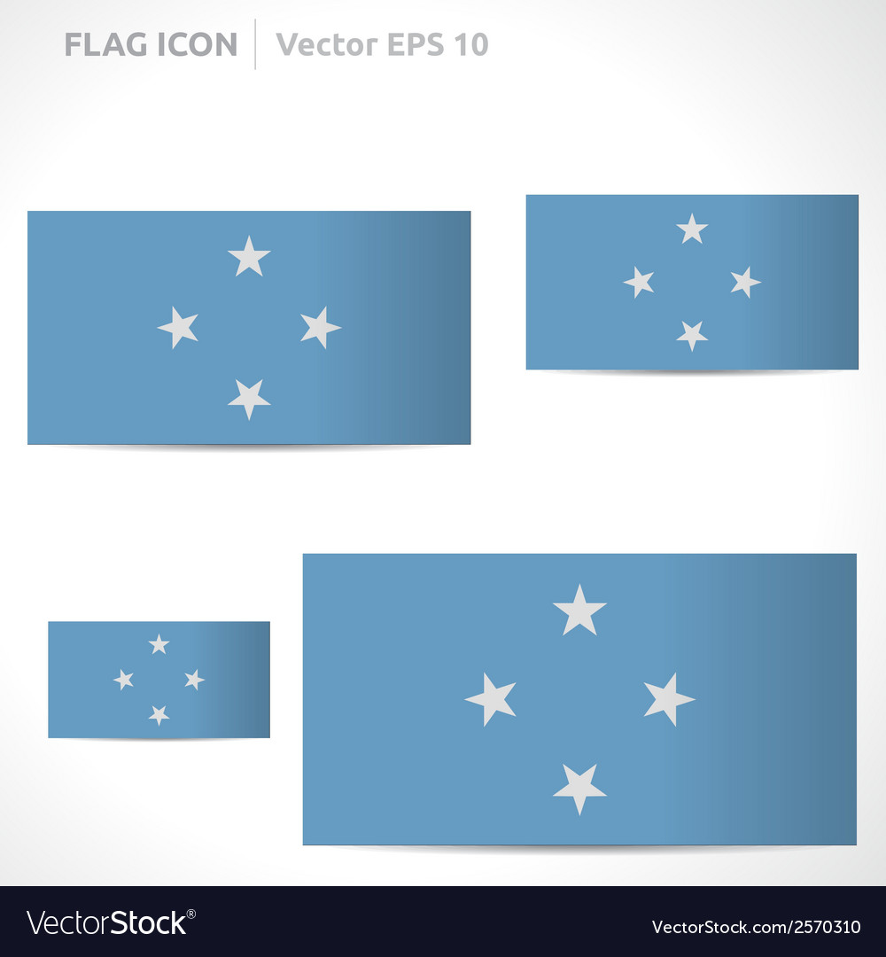Federated states of micronesia flag template vector | Price: 1 Credit (USD $1)
