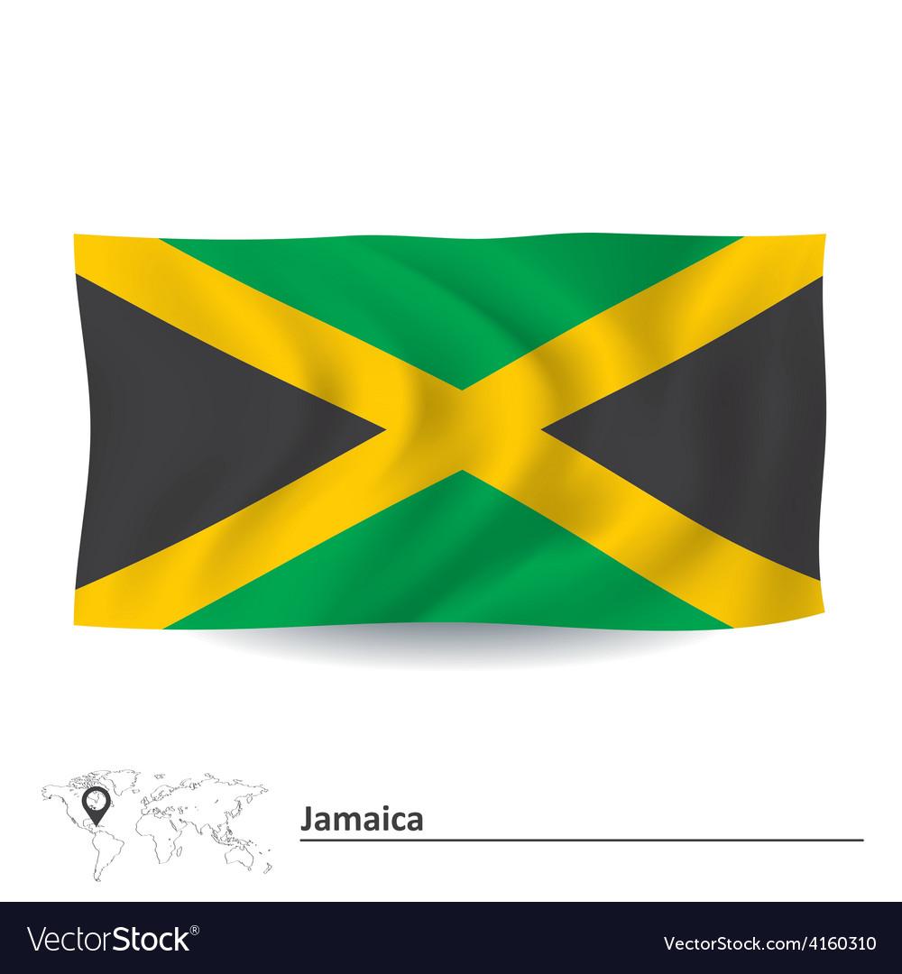 Flag of jamaica vector   Price: 1 Credit (USD $1)