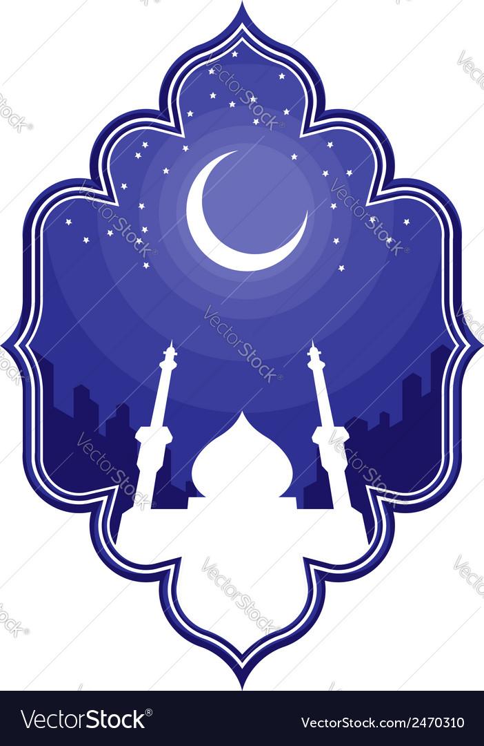 Ramadan eid mubarak greeting 2 vector | Price: 1 Credit (USD $1)