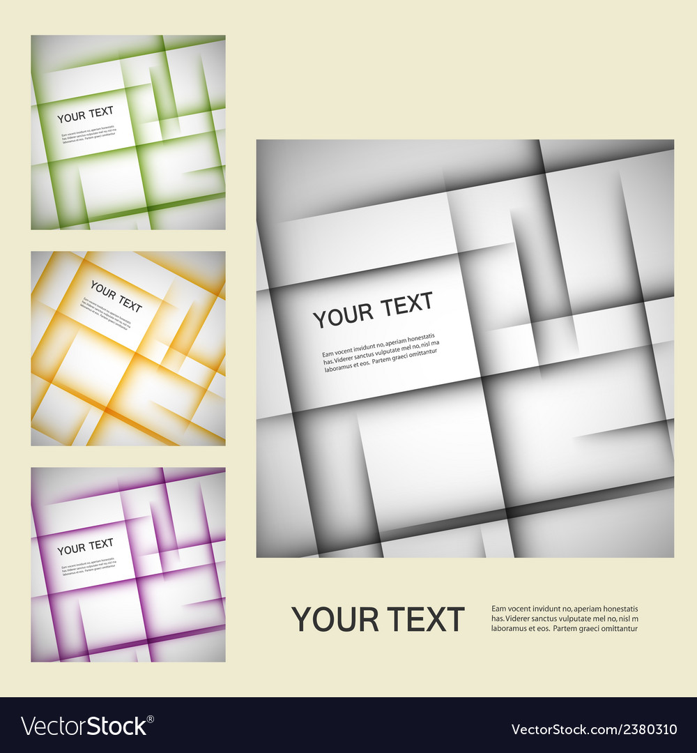 Set color line elements vector | Price: 1 Credit (USD $1)