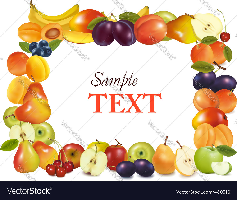 Sweet fruits background vector | Price: 1 Credit (USD $1)