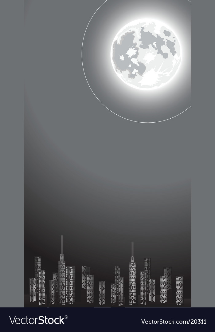 Cityscape and globe vector | Price: 1 Credit (USD $1)