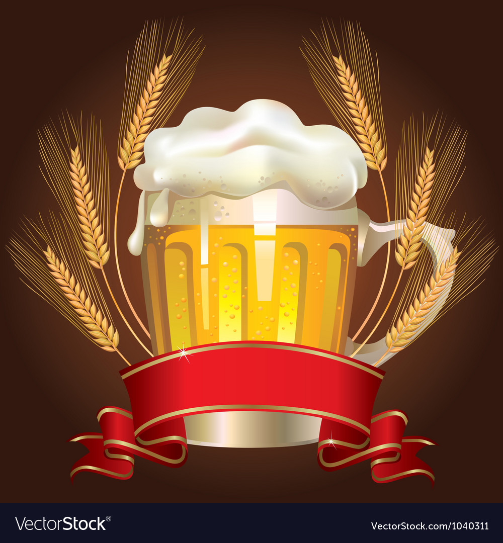 Glass of wheat beer vector | Price: 3 Credit (USD $3)