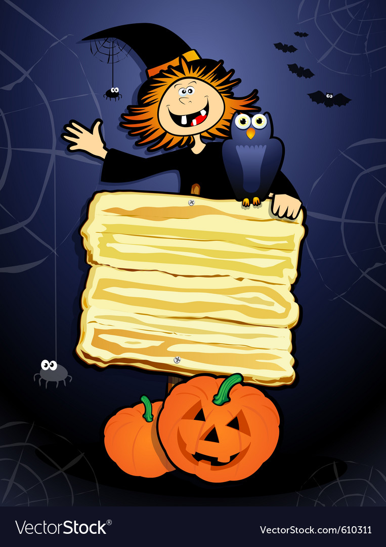 Halloween background with sign vector | Price: 1 Credit (USD $1)