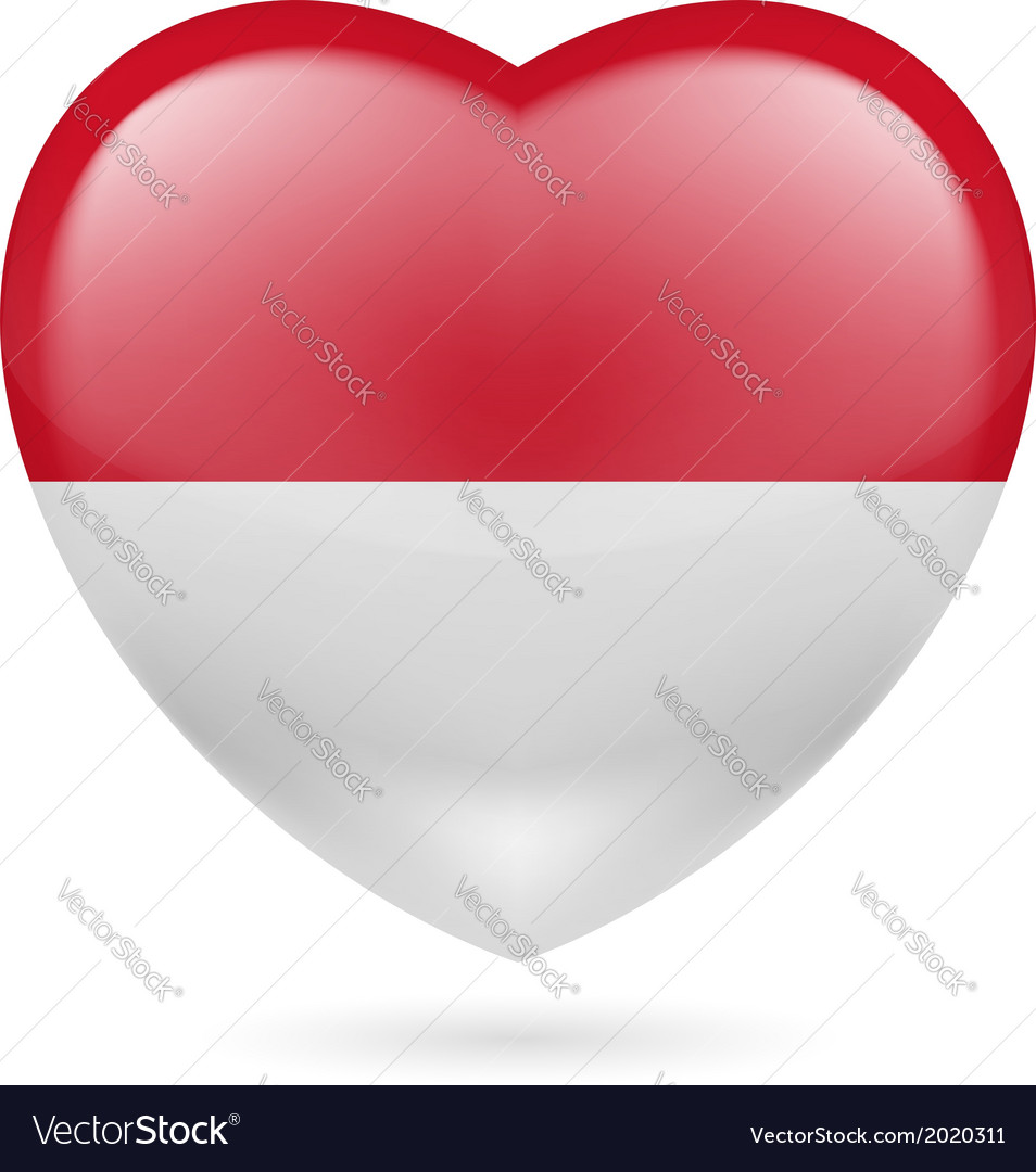 Heart icon of indonesia vector | Price: 1 Credit (USD $1)