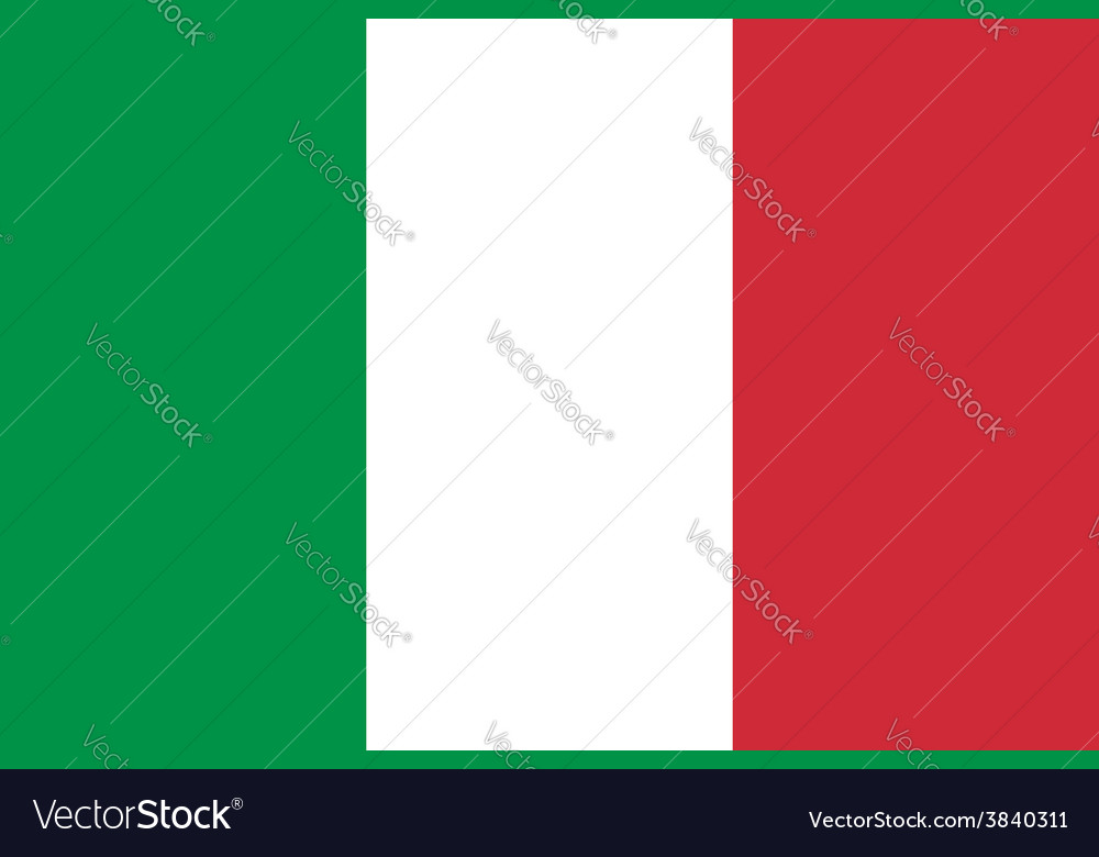 Italy flag original proportion and colors high vector   Price: 1 Credit (USD $1)