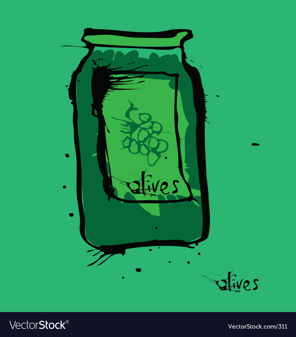Olive jar vector | Price: 3 Credit (USD $3)