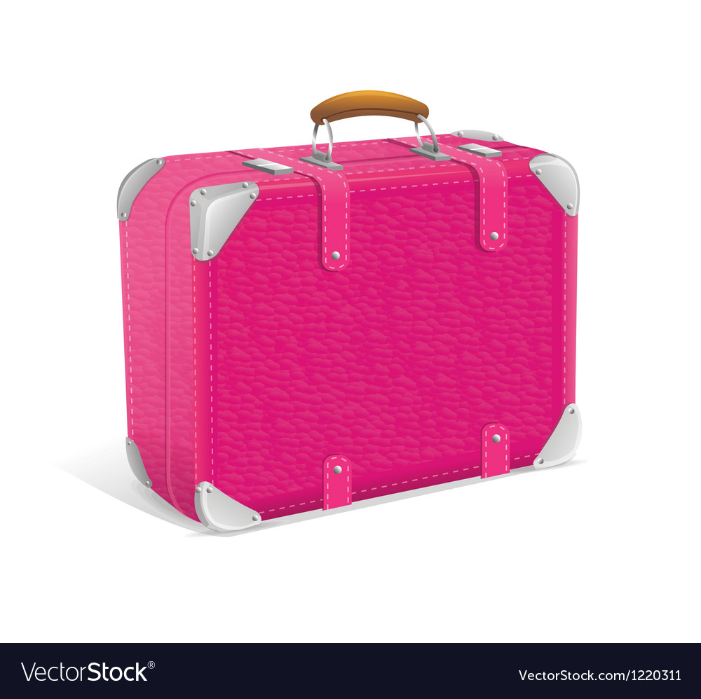 Pink trawel suitcase vector | Price: 3 Credit (USD $3)