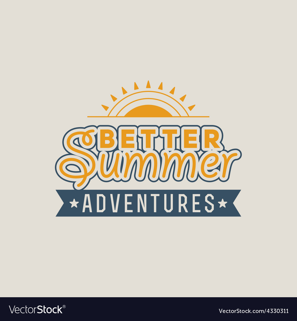 Retro summer vintage label on colorful background vector | Price: 1 Credit (USD $1)