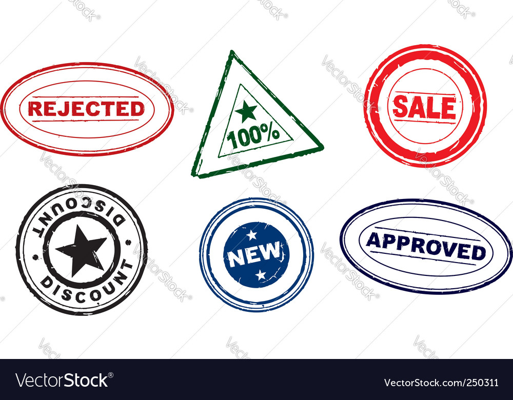 Rubber stamps vector   Price: 1 Credit (USD $1)
